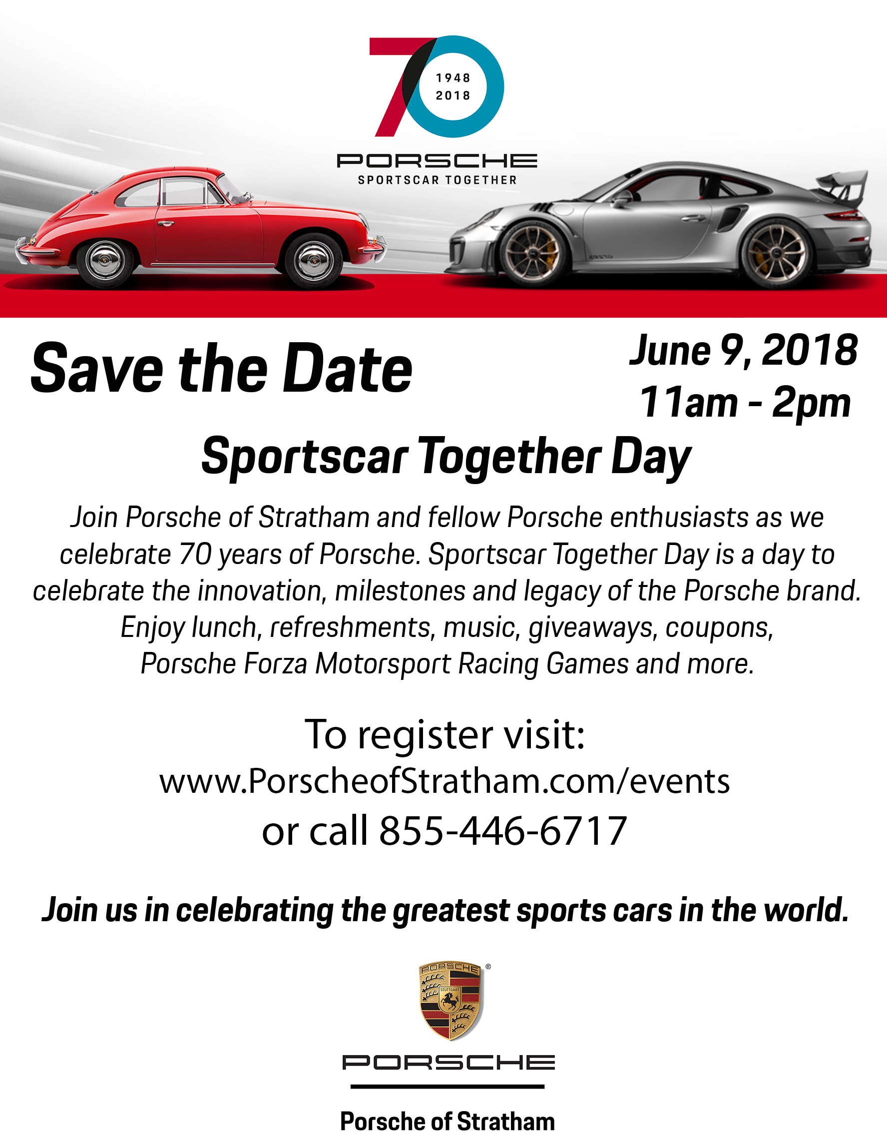70th Porsche Save the Date
